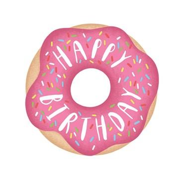Verjaardagskaart meiden - donut-met-glazuur