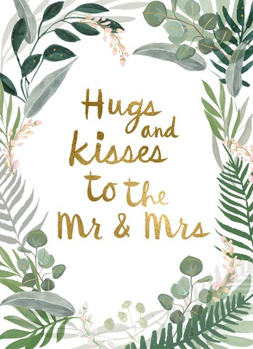 - Trouwdagkaart-Hugs-and-kisses-to-the-Mr-and-Mrs-Jungle-style