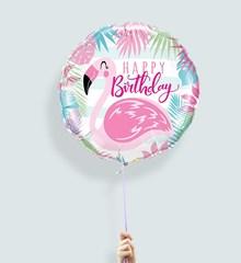 Ballon Verjaardag Flamingo