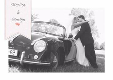 Huwelijkskaart met foto - fotokaart-huwelijk-liggend-tekst-editable-