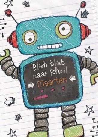 Back to School kaart - back-to-school-blieb-blieb-naar-school