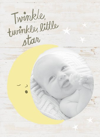kaart baby foto