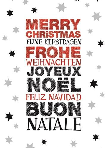Kerstkaart - xmas-boxes-merry-christmas-fijne-kerstdagen-frohe-weihnachten-joyeux-noel-feliz-navidad-buon-natale