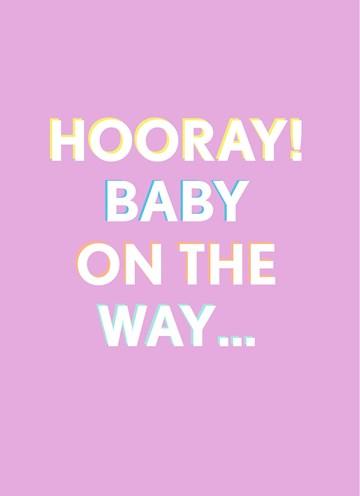 - Zwanger-felicitatiekaart-Hooray-baby-on-the-way