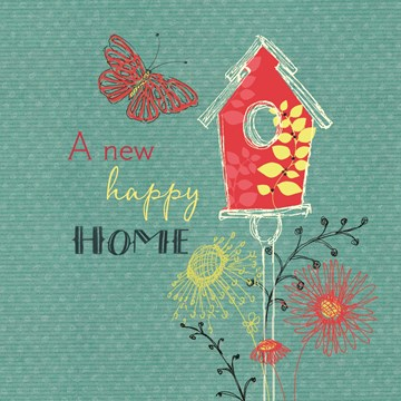 nieuwe woning verhuiskaart - a-new-happy-home