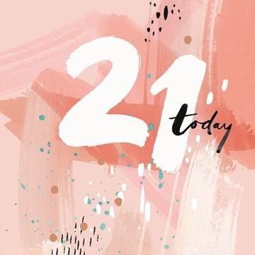 Verjaardagskaart leeftijden - 21-today