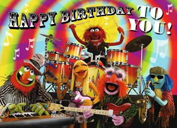 Disney kaart - band-mayhem-wenst-je-happy-birthday