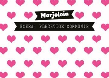 Communie kaart - liefdevolle-communie-kaart-met-leuke-hartjes