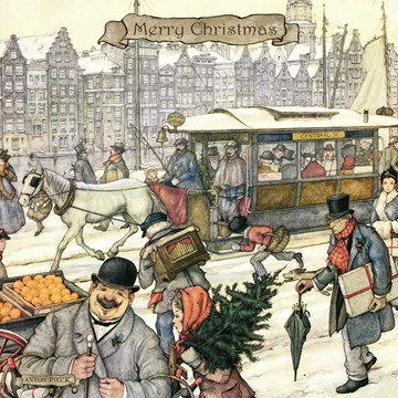 Kerstkaart - anton-pieck-winter