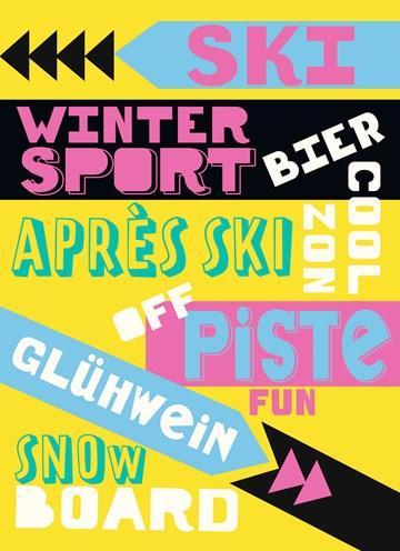 Winterkaart - associaties-wintersportvakantie