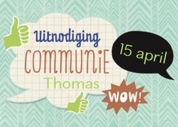 Uitnodiging maken - uitnodiging-communie-wow-tekstballon