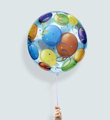 Ballon XL Gekleurde ballonnen