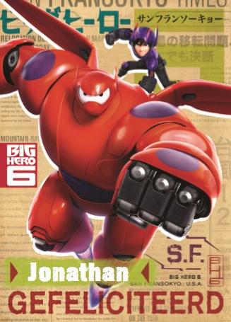 Disney kaart - super-held-big-hero-verjaardag-jarige-harte-gefeliciteerd-naam