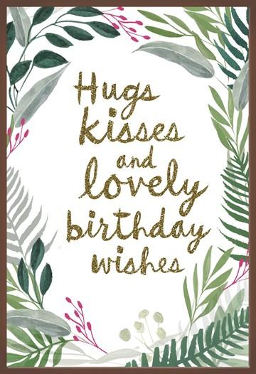 verjaardagskaart vrouw - hugs-kisses-choco-wishes