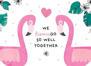 Valentijnskaart - Valentijnskaart-We-flamingo-so-well-together