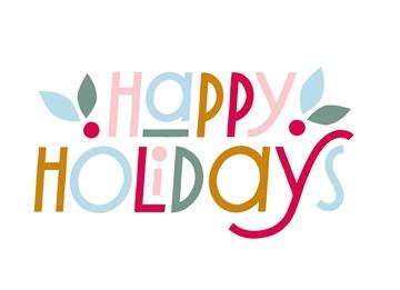 Kerstkaart - hallmark-kerstkaart-happy-holiday