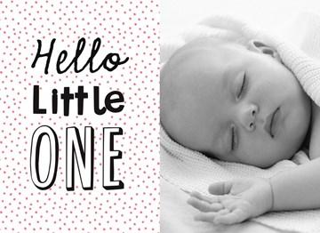 - fotokaart-hello-little-one-roze