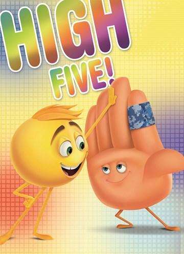 - emoji-kaart-met-twee-smileys-die-elkaar-een-high-five-geven