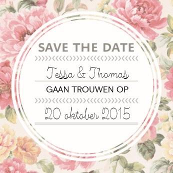 Uitnodiging maken - save-the-date-romantisch