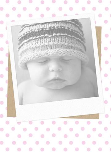 - fotokaart-staand-roze-stippen