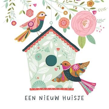 Nieuwe woning / Verhuiskaart - Nieuw-huisje-vogels