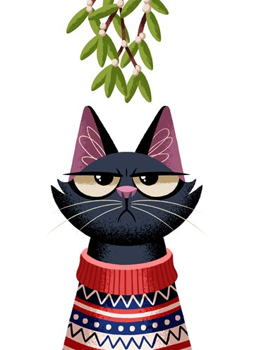 - grumpy-cat-under-the-mistletoe
