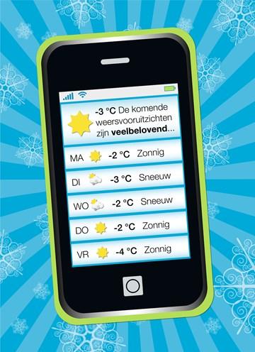 Winterkaart - mobiele-telefoon-weersverwachting