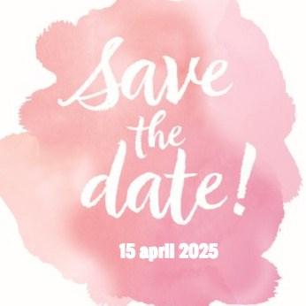Uitnodiging maken - watercolor-save-the-date