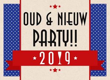 Uitnodiging kaart - oud-en-nieuw-party-sterren-