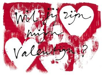 valentijnskaart - Valentijnskaart-Ruud-de-Wild-Wil-jij-zijn-mijn-Valentijn