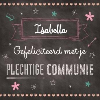 Communie kaart - lieve-plechtige-communie-kaart-met-sterretjes-
