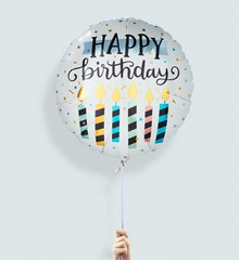 Ballon Happy Birthday Candles