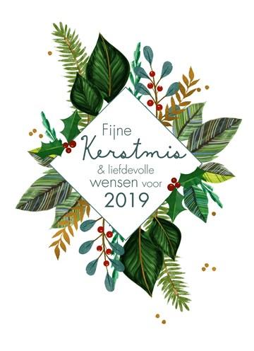 Kerstkaart - kerstkaart-fijne-kerstmis-en--liefdevolle-wensen-voor-2018