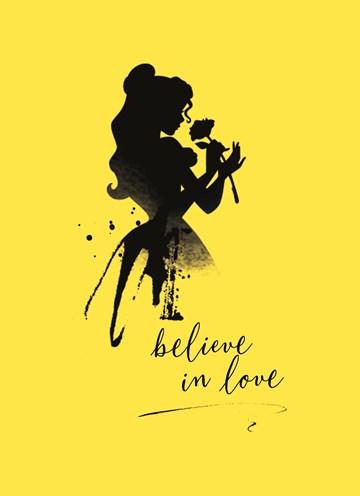 Disney kaart - Disney-believe-in-love-belle