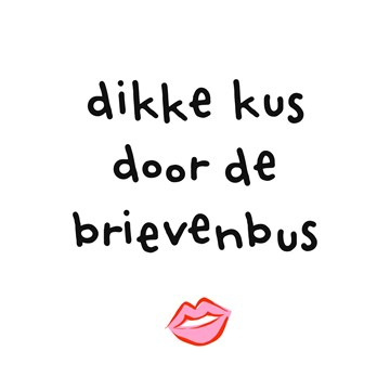 Beterschapskaart - Liefdeskaart-Dikke-kus-door-de-brievenbus-Corona-coronavirus-griep-ziek-hart-onder-de-riem