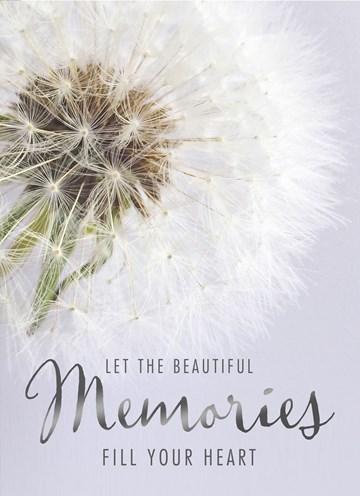 Deelnemingskaart - Rouwkaart - condoleance-let-the-memories-fill-your-heart