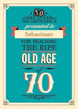 Verjaardagskaart leeftijden - leeftijd-zeventig-old-age
