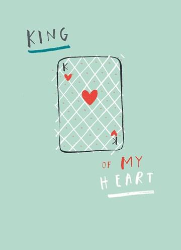 valentijnskaart - kaart-king-of-my-heart