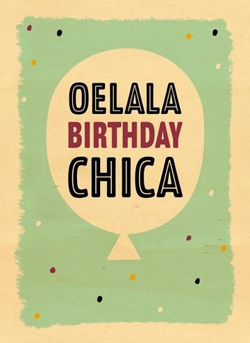Verjaardagskaart meiden - houten-kaart-verjaardag-oelala-birthday-chica