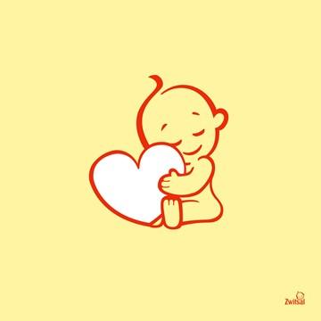 In verwachting kaart - zwitsal-baby-hart