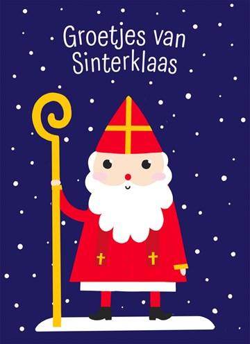 - Sinterklaaskaart-getekend-Groetjes-van-Sinterklaas