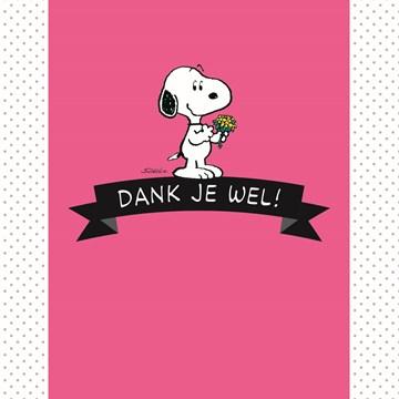 Snoopy kaart - snoopy-dank-je-wel
