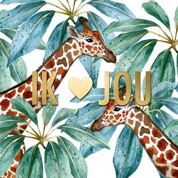 Valentijnskaart - CLA-ik-hou-van-jou-met-jungle-giraffen