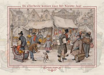Nieuwjaarskaart - anton-pieck-nieuwjaar-de-allerbeste-wensen