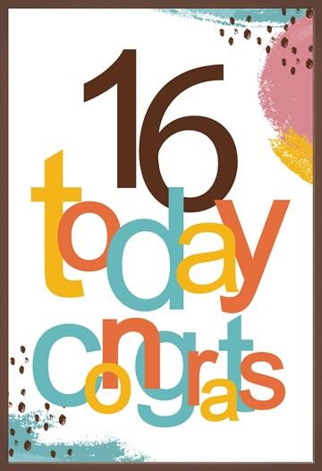 Verjaardagskaart jongens - 16-today-congrats