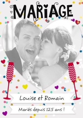 kaart trouwdag