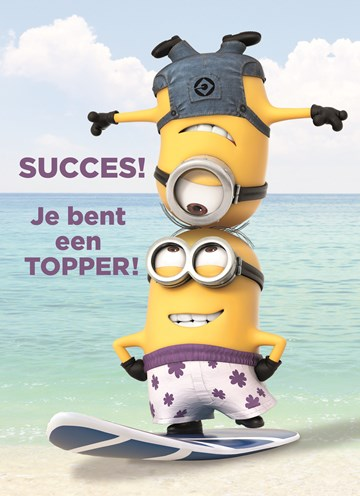 - minions-succes-je-bent-een-topper