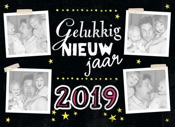 Nieuwjaarskaart - nieuwjaars-kaart-gelukkig-nieuwjaar-2019