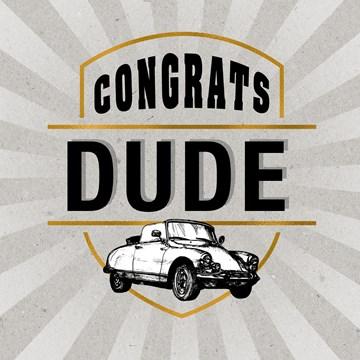 - congrats-dude