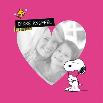 Fotokaarten - Vriendschap - fotokaart-snoopy-woodstock-dikke-knuffel